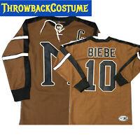 John Biebe #10 Mystery Alaska Movie Hockey Jersey Russell Crowe S - 3XL Stitched