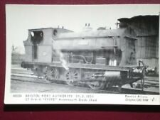 POSTCARD BRISTOL PORT AUTHORITY LOCO 'FYFEE' IN 1931 AT AVONMOUTH DOCKS SHED