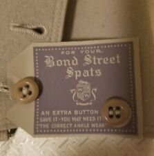 Antique Bond Street Men's Wool Spats with Box, Pearl Gray / Grey