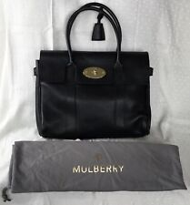 * MULBERRY * Heritage Bayswater Black Classic Grain Leather Shoulder Bag Handbag