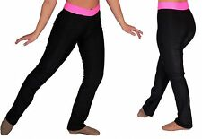 NWT Pumpers Black & Pink Dance Pants/Tights  Costume Adult S