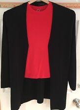 Women's Small Pointelle Black Sweater
