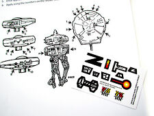 Custom Star Wars Vintage 'die Cut' Stickers for Turret and Probot Playset