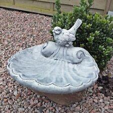 """STEINGUSS Vidroflor Gartendeko frostsicher Statue VOGELTRÄNKE /""""HÄNDE MIT VOGEL/"""""""