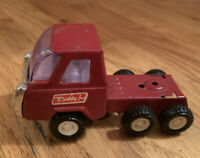 Vintage Buddy L Pressed Steel Truck Cab Toy Dark Red Mini 1970's