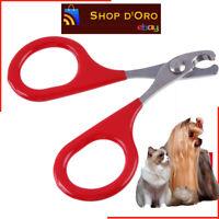 Forbice Taglia Unghie per Cani Gatti Piccole Taglie Trimmer Toelettatura