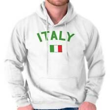 Italy Country Flag Nation Italian Soccer Hoodie Hooded Sweatshirt Men Women