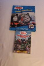 THOMAS THE TANK ENGINE BOOK WITH DVD PLUS THOMAS TRUSTY FRIENDS DVD USED