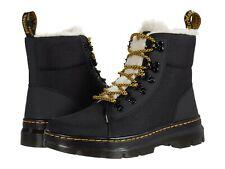 Women's Shoes Dr. Martens COMBS FAUX FUR Lace Up Combat Boots 26015001 BLACK