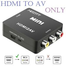Composite HDMI to AV CVBS 3RCA Video Converter Adapter 720/1080p + USB Cable