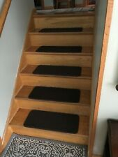 "New Set of 10 SKID-RESISTANT Carpet Stair Treads 10""x23.5"" CHOCOLATE BROWN rugs"