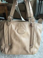 Genuine TOD'S Leather Media Tote Bag - Tan - Great condition