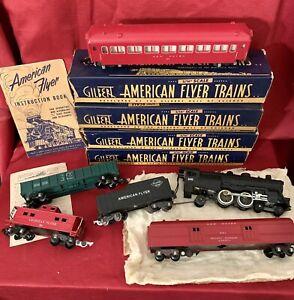 American Flyer Train SET - 300 Reading Line - Vintage S Gauge Post-War