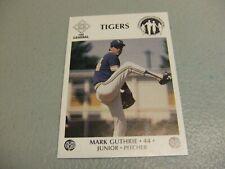 1985-85 LSU Tigers Baseball Mark Guthrie McDag Chemical Dependency Baton Rouge