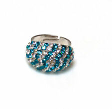 Turquoise Silver Plated Band Costume Rings