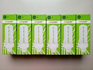 6 x Bulb 26W GE Biax CFL 840 4000K 4 Pin GX24q-3 Compact Fluorescent Lamp 34381