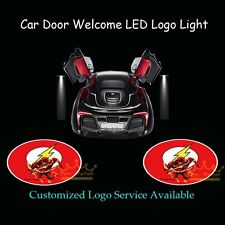 2Pcs Car Door The Flash Logo Welcome Ghost Shadow Laser Projector CREE LED Light
