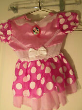 Disney Minnie Mouse Dress Pink Halloween Costume Disguise 12-18 Month
