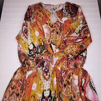 Ariat Women's Geometric Multicolor Drop Waist Dress Size Large (D15)
