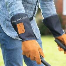 Personalised Denim Gauntlet Mens Gardening Gloves One Size