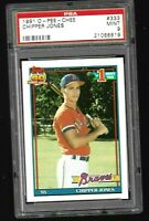 ICONIC 1991 O-PEE-CHEE #333 Chipper Jones PSA 9 - RED DOT BLOB | BRAVES | *MINT*