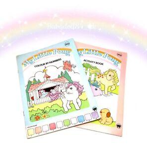 ⭐️ My Little Pony ⭐️ G1 Vintage UK 2 Activity Books Unused Merchandise!