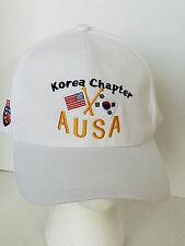 AUSA Association of the US Army Korea Chapter Cream Color Ball Cap Hat