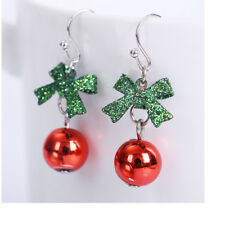 Hot Christmas Xmas Gift Bowknot Dangle Stud Earrings Jewelry Pendant  Women Girl