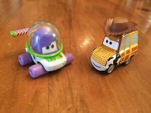 Disney Pixar Cars Diecast Rare Toy Story Buzz and Woody