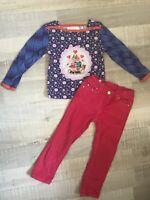 Mim-pi Tissaia 3 / 4 ANS 98 Cm FILLE : T Shirt + Pantalon Velours Rose Hiver BE