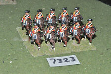 25mm seven years war prussian cuirassiers 10 cavalry (7323) painted metal