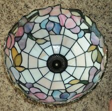 New Tiffany Style Stained Glass Lamp Shade Floral Lot (2 shades)