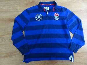 ENGLAND RUGBY mens stripe long sleeve top SIZE XXL EXCELLENT COND