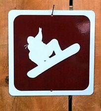 Snowboarding Snow Boarding Recreation Symbol Highway Route Sign
