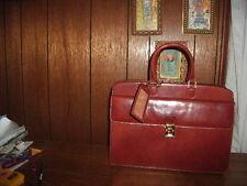 ALESSANDRO VENANZI LEATHER PORTFOLIO SADDLE TAN in giftbox style #9950 BRAND NEW