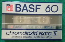 MC Musicassetta BASF 60 Chromdioxid Extra II compact cassette tape SIGILLATA