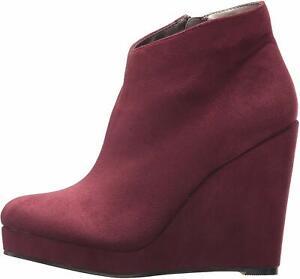 Michael Antonio Women's Cerras-sue2 Ankle Bootie, Plum, Size 8.0 5jFt