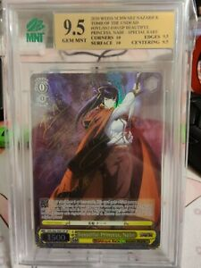 Signed Weiss Schwarz Overlord OVL/S62-001SP SP Nabe FOIL MNT 9.5 BGS 9.5