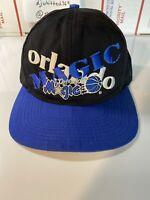 Vintage C Competitor Orlando Magic Adjustable Snapback Hat Cap Cross Pattern 90s