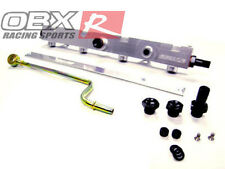 OBX Silver Aluminum Fuel Rail For 2002 2004 2005 2006 Civic Si K20A3 K20Z3 2.0L