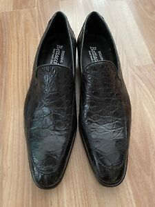 Battaccini Hand Made Black Crocodile Leather Loafer
