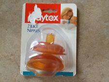 VTG 1991 Playtex Juice Baby Bottle Nipples Flat Top Infant RARE