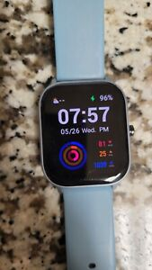 Amazfit GTS 42mm Case Blue Silicone Band Buckle
