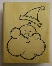 Happy Santa Rubber Stamp PW E3123
