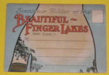 Souvenir Folder of the Beautiful Finger Lakes 1915s Postcard Folder Great Pics!
