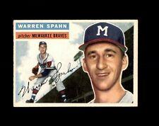 1956 TOPPS #10 WARREN SPAHN BRAVES EX-MT to EX-MT+