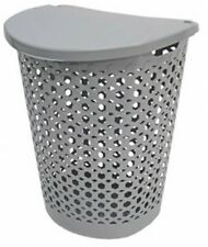 Large Capacity Linked Impressions Lidded Laundry Basket Hamper Lid Bin Storage