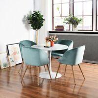 4X Grün Wohnzimmerst Silky Samt Akzent Sessel Küche Esszimmer Büro Stühle Sessel