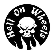 Auto Aufkleber hell on wheels Skull tuning sticker