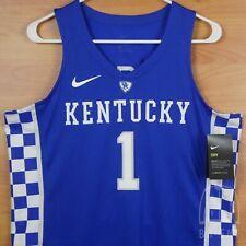 Nike Elite University Kentucky Basketball Jersey #1 Authentic Game Royal Medium